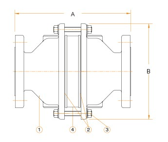 DFB Series Flame Arresters drawing