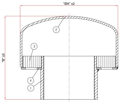 ERB Series Flame Arresters drawing