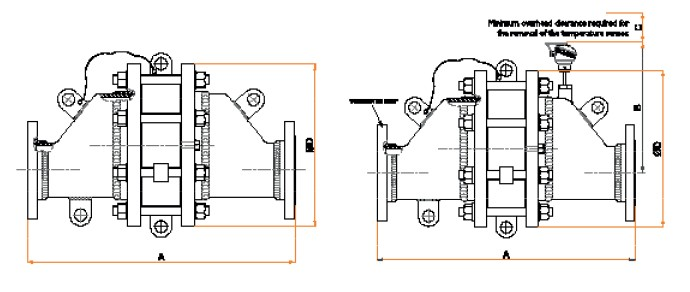 LEB Series Flame Arresters drawing